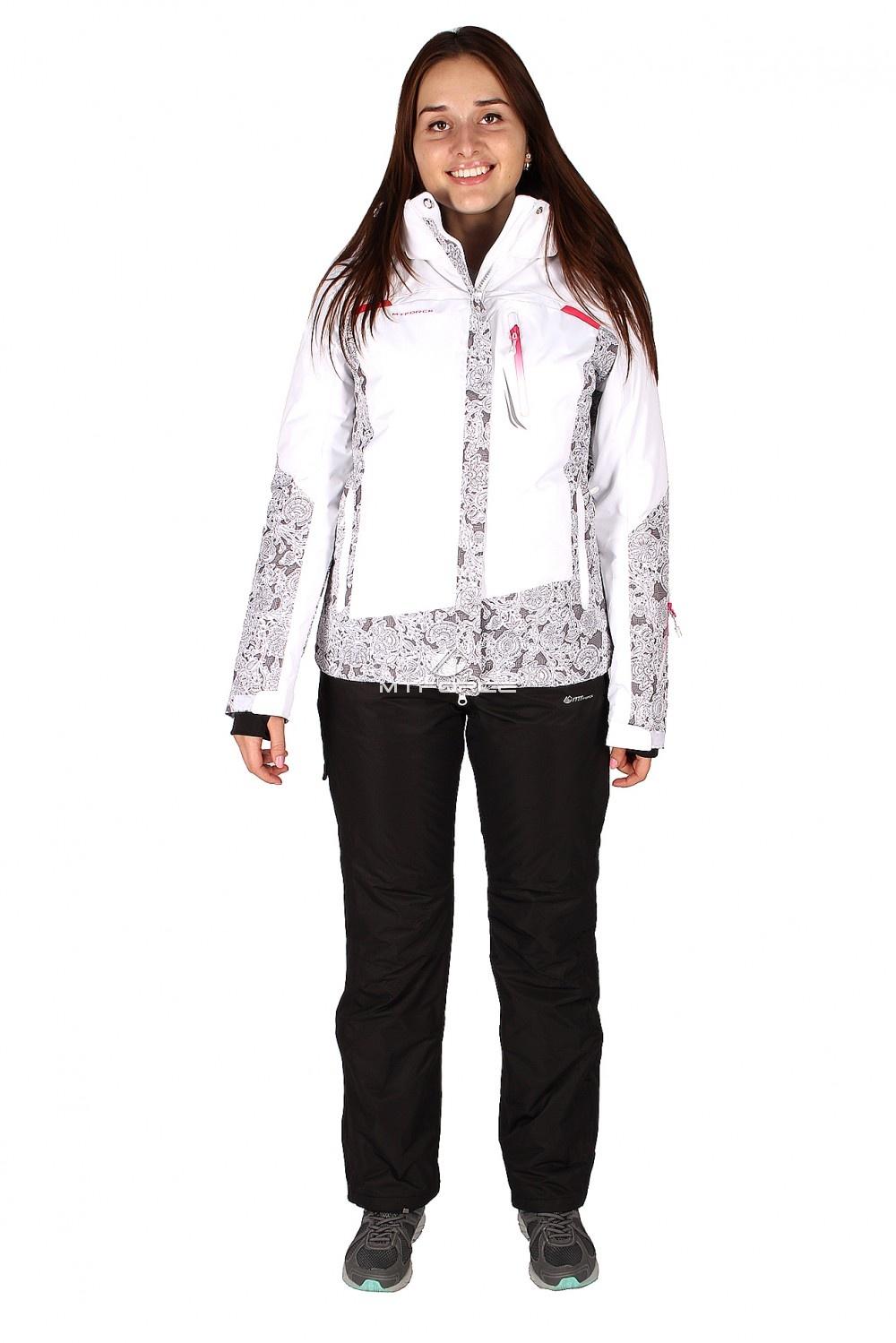 Купить                                  оптом Костюм горнолыжный женский белого цвета 01522Bl