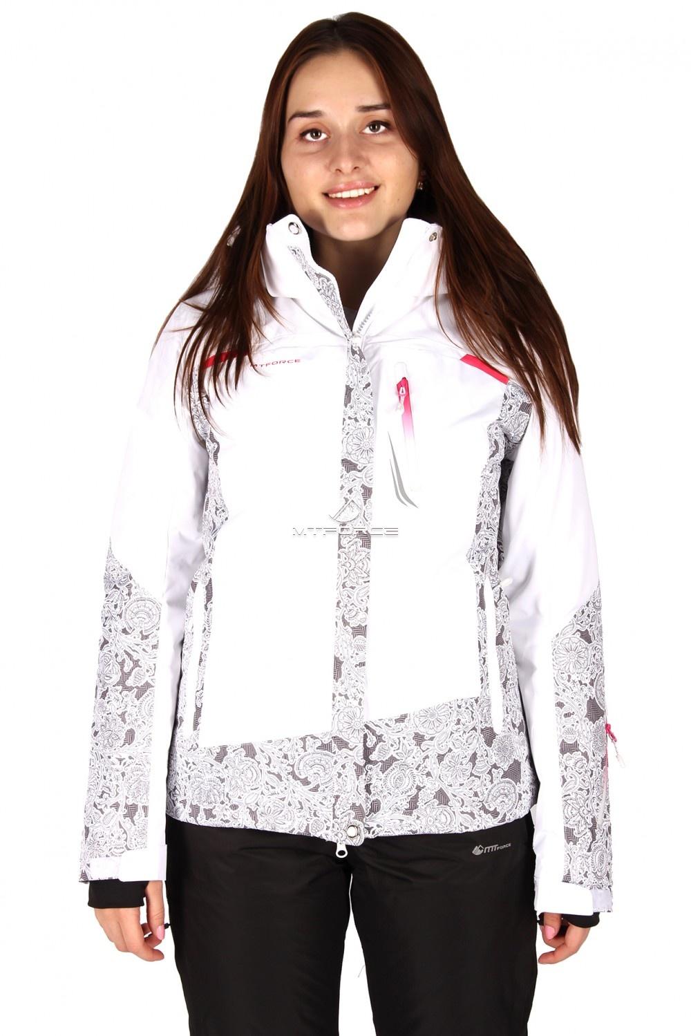 Купить  оптом Куртка горнолыжная женская белого цвета 1522Bl