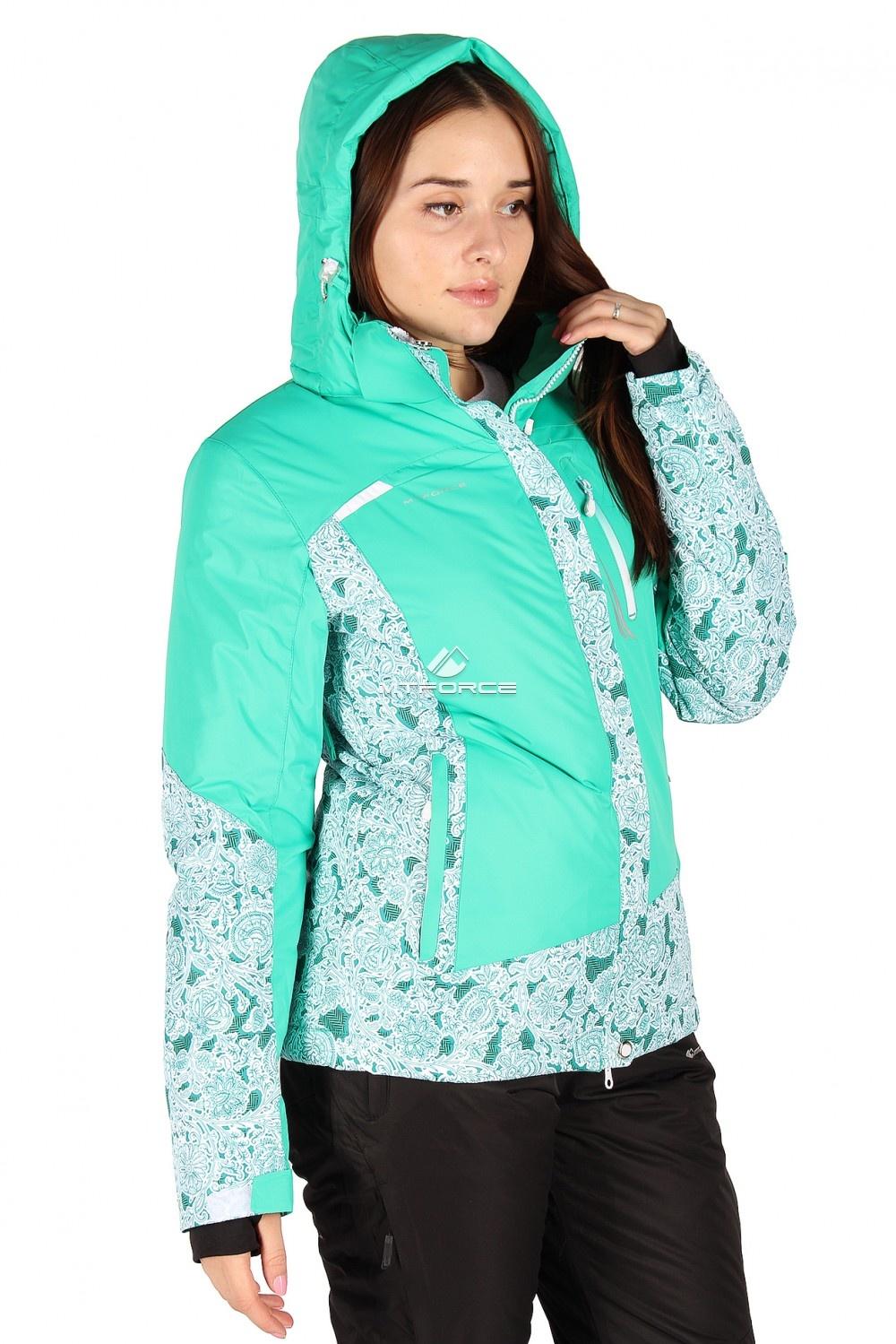 Купить                                  оптом Куртка горнолыжная женская зеленого цвета 1522Z