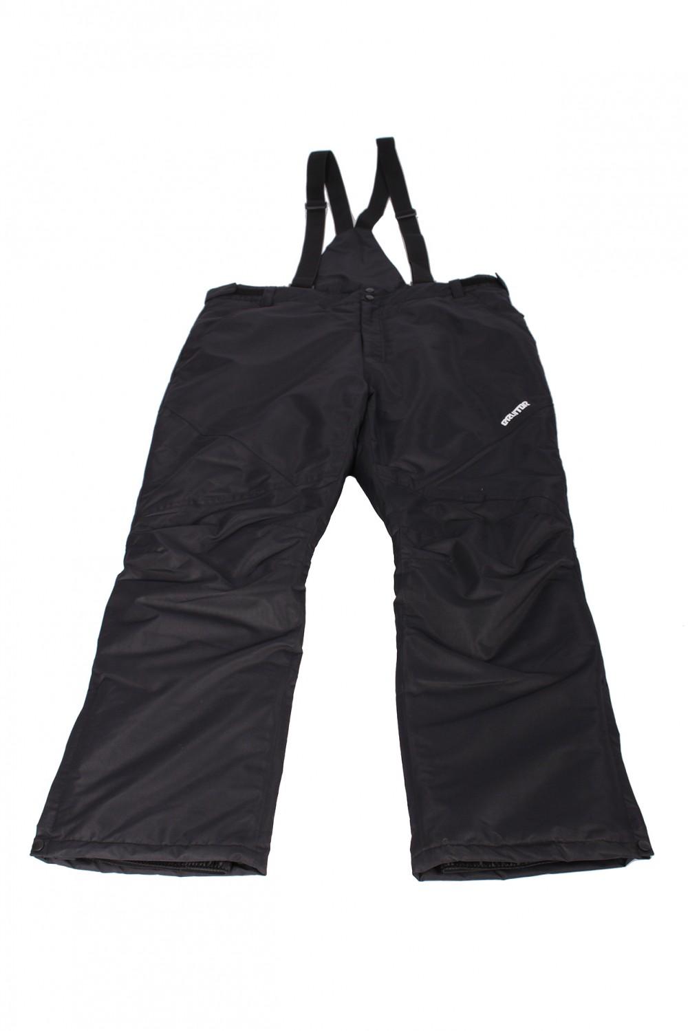 Купить  оптом Брюки горнолыжные мужские черного цвета 004Ch