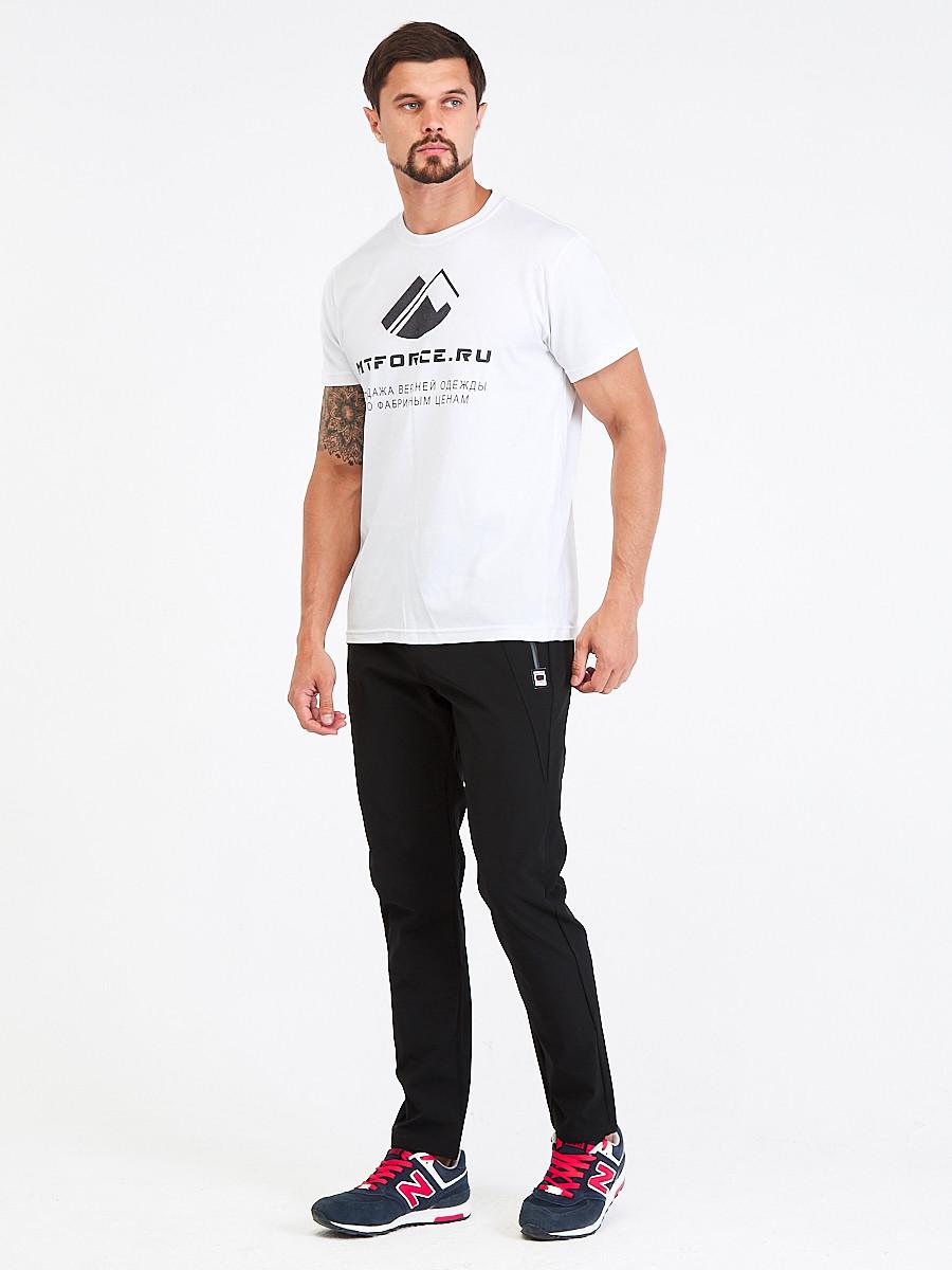 Купить оптом Брюки мужские повседневные черного цвета 00812Ch в Санкт-Петербурге