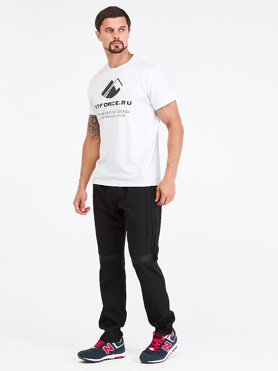 Купить оптом Брюки мужские повседневные черного цвета 00815Ch