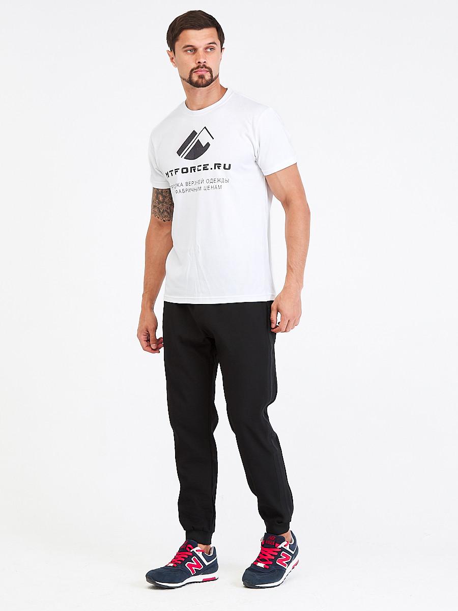 Купить оптом Брюки мужские повседневные черного цвета 00816Ch