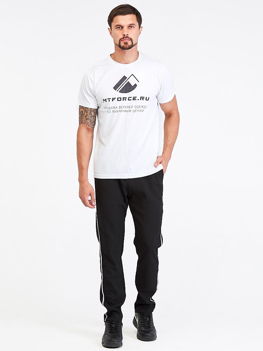 Купить оптом Брюки мужские повседневные черного цвета 00817Ch в  Красноярске