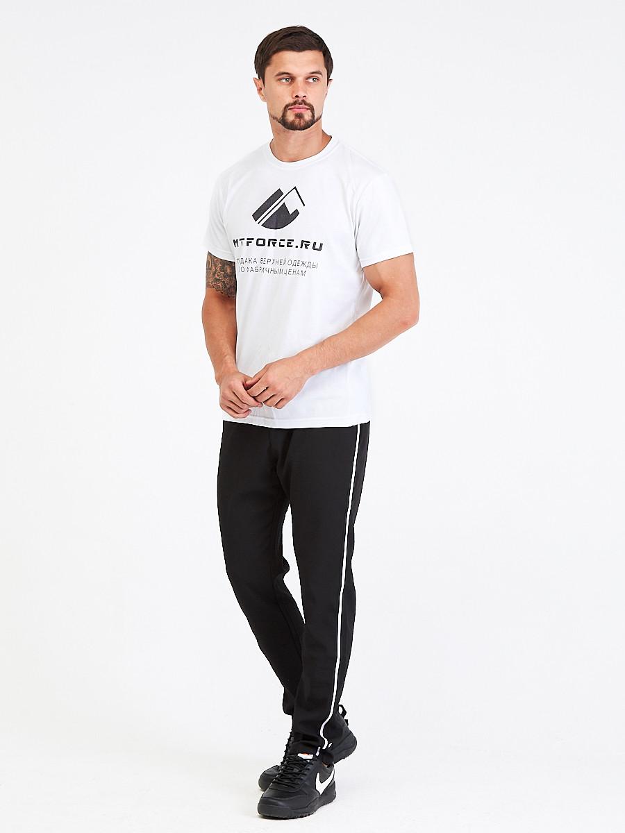 Купить оптом Брюки мужские повседневные черного цвета 00817Ch в Санкт-Петербурге