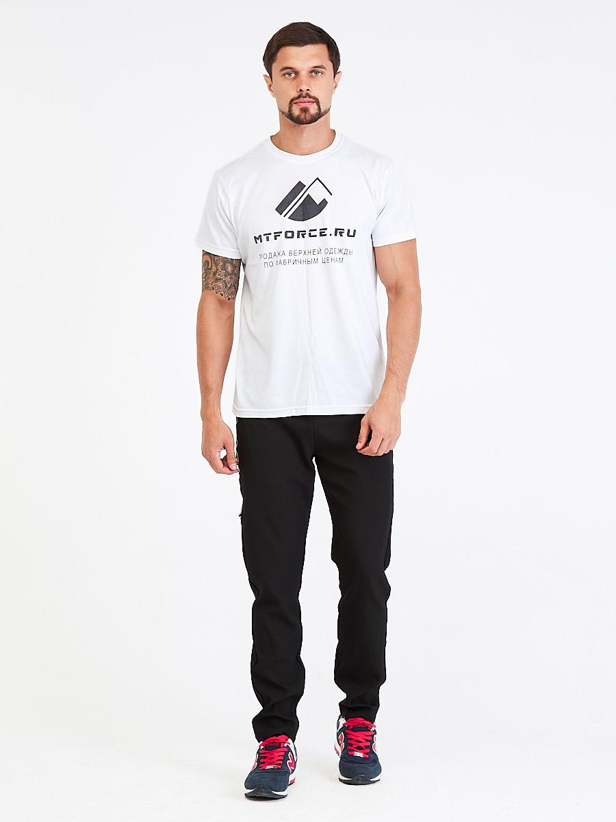Купить оптом Брюки мужские повседневные черного цвета 00818Ch в Нижнем Новгороде