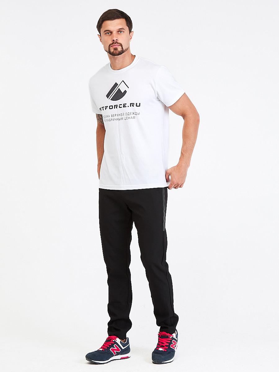 Купить оптом Брюки мужские повседневные черного цвета 00818Ch в Казани