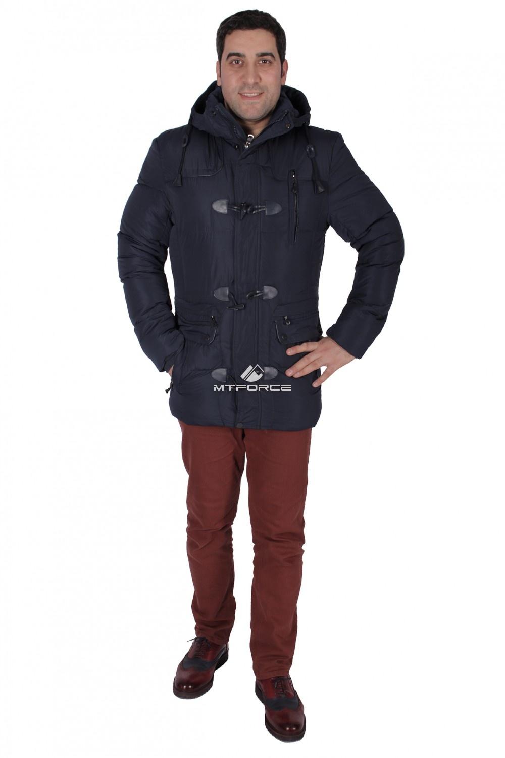 Купить  оптом Куртка зимняя мужская темно-синего цвета 0110TS