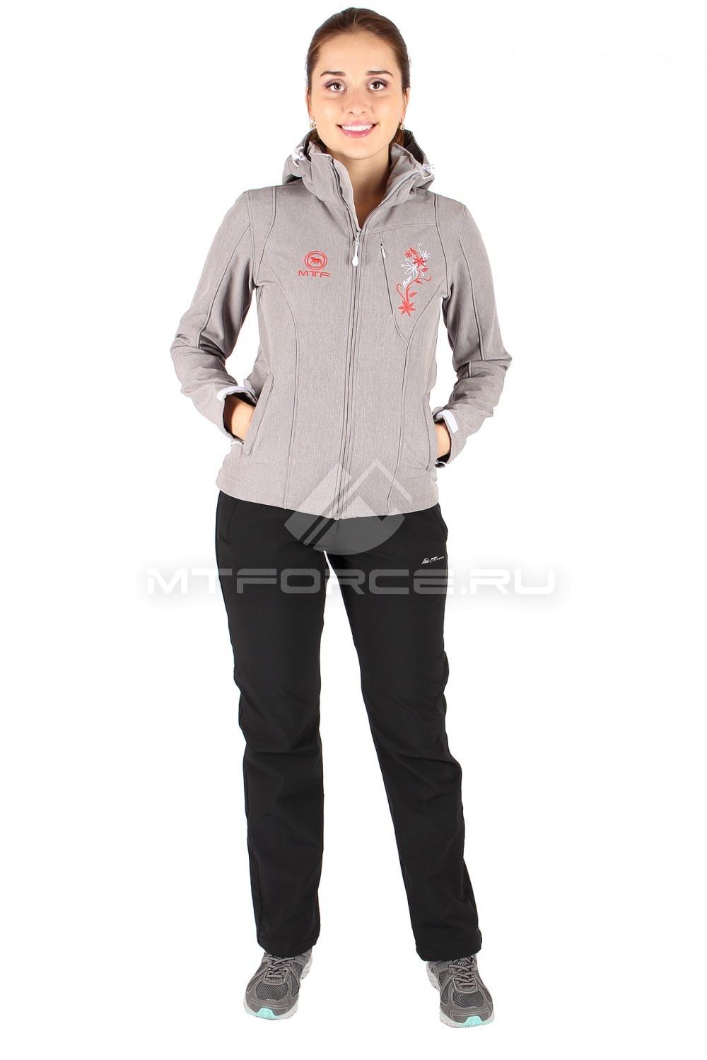 Купить                                  оптом Костюм виндстопер женский серого цвета 01512Sr