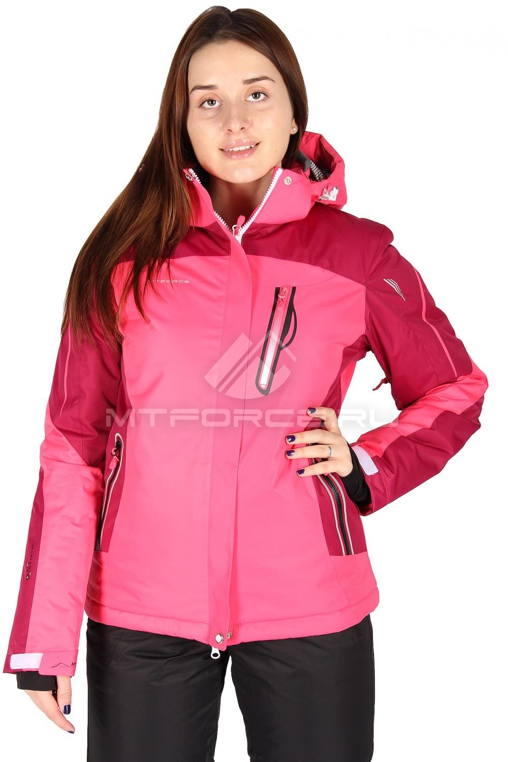 Купить                                  оптом Куртка горнолыжная женская розового цвета 1529R