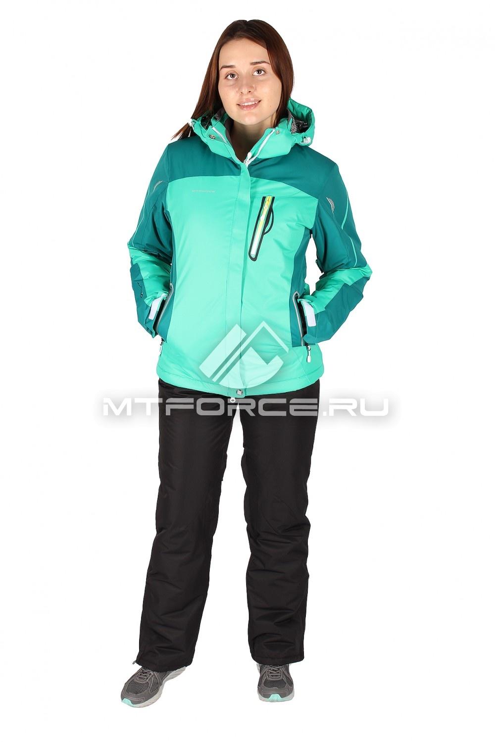 Купить                                  оптом Костюм горнолыжный женский зеленого цвета 01529Z