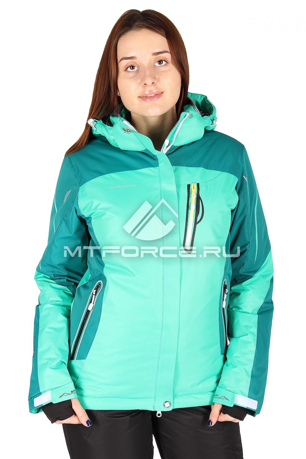 Купить                                  оптом Куртка горнолыжная женская зеленого цвета 1529Z