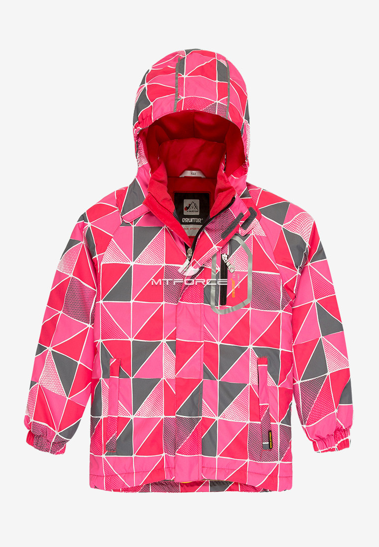 Купить оптом Куртка демисезонная подростковая для девочки розового цвета 016-1R