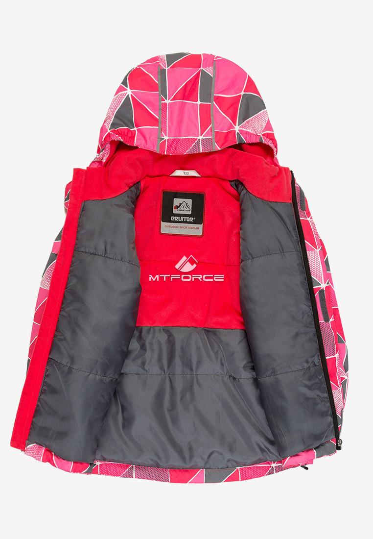 Купить оптом Куртка демисезонная подростковая для девочки розового цвета 016-1R в Екатеринбурге