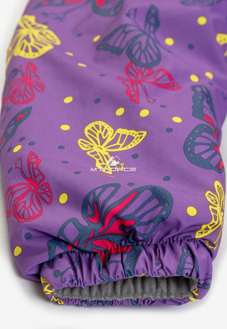 Купить оптом Куртка демисезонная подростковая для девочки фиолетового цвета 016F