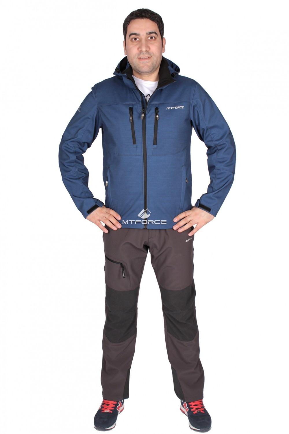 Купить                                  оптом Костюм виндстопер мужской синего цвета 01733S
