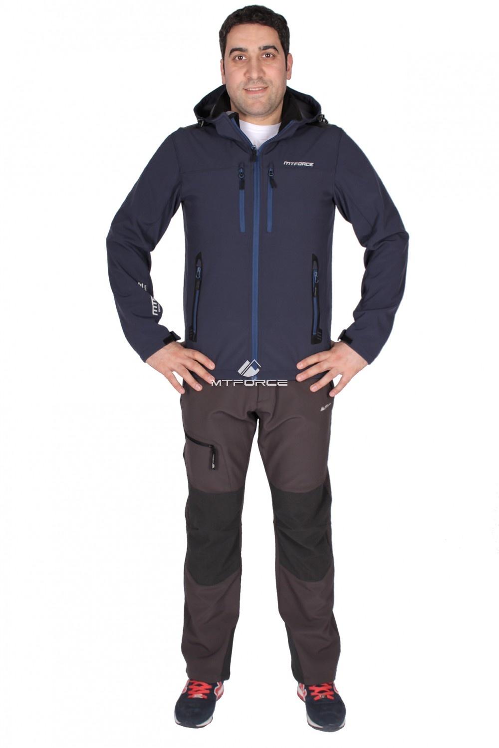Купить оптом Костюм виндстопер мужской темно-синего цвета 01739TS