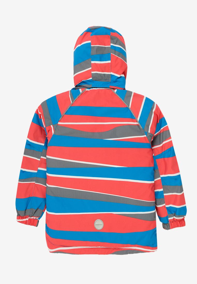 Купить оптом Куртка демисезонная подростковая для мальчика красного цвета 017Kr