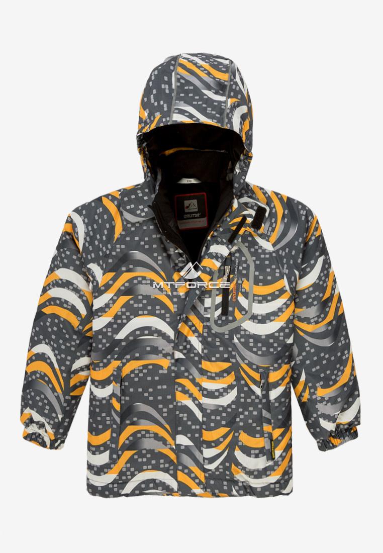 Купить оптом Куртка демисезонная подростковая для мальчика темно-серого цвета 017TC