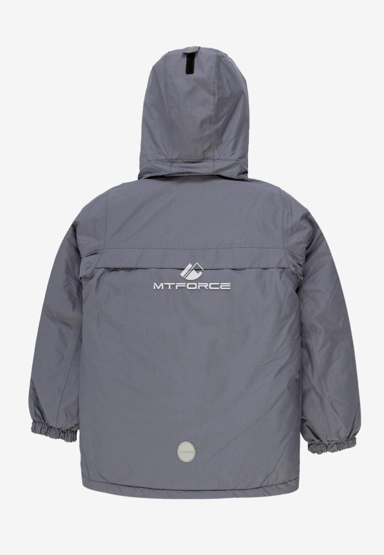 Купить оптом Куртка демисезонная подростковая для мальчика серого цвета 017Sr