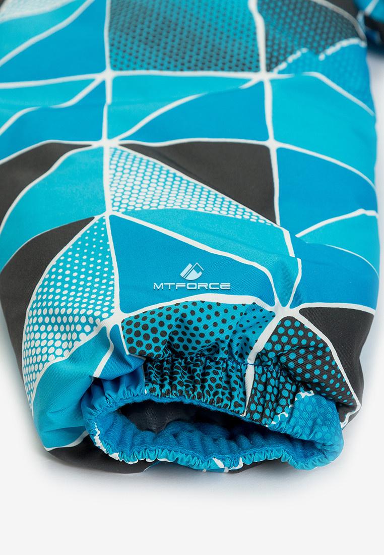 Купить оптом Куртка демисезонная подростковая для мальчика голубого цвета 017Gl в Уфе