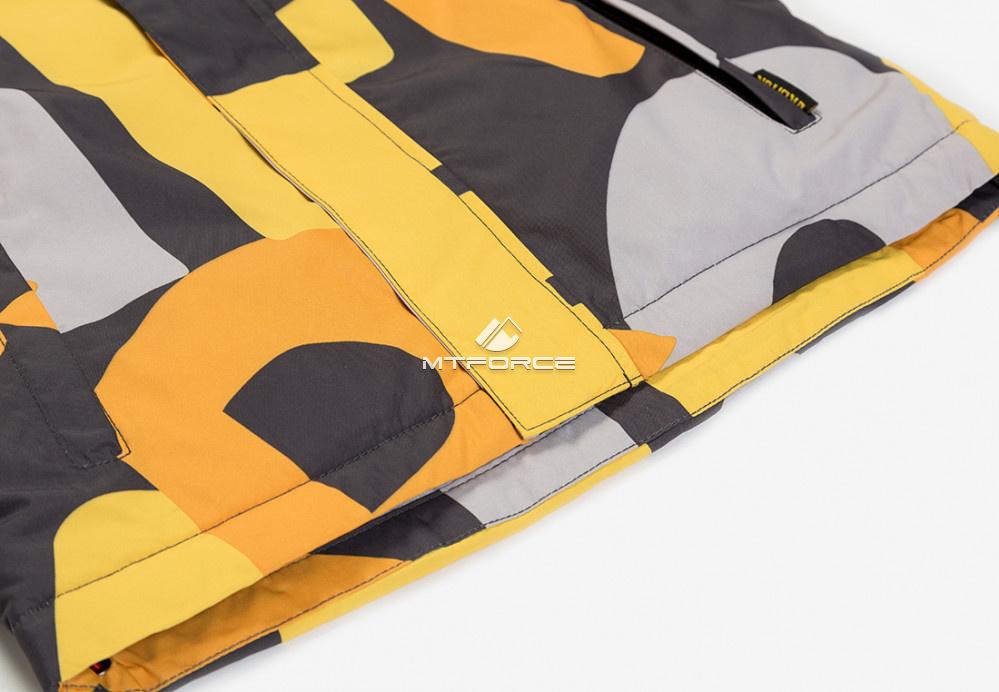Купить оптом Куртка демисезонная подростковая для мальчика оранжевого цвета 017O