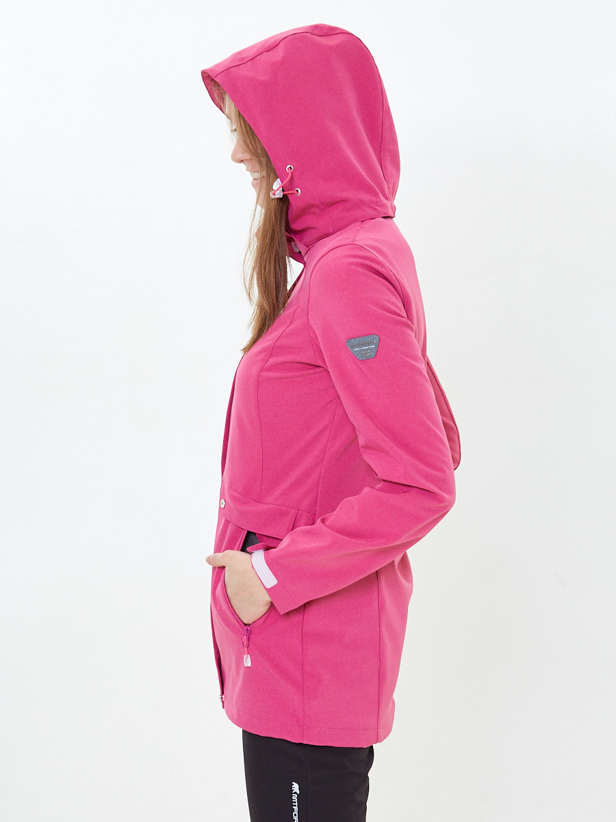 Купить оптом Костюм женский softshell розового цвета 018125-1R