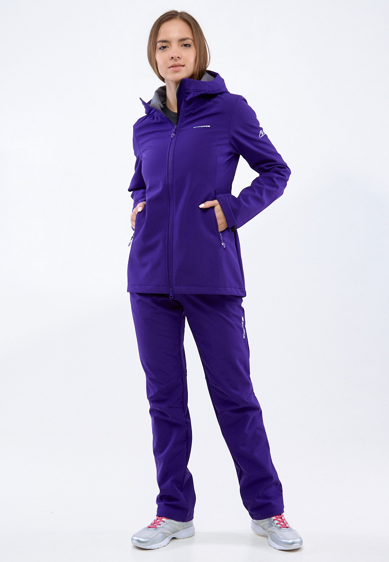 Купить оптом Костюм женский softshell темно-фиолетовго цвета 01816-1TF в Нижнем Новгороде
