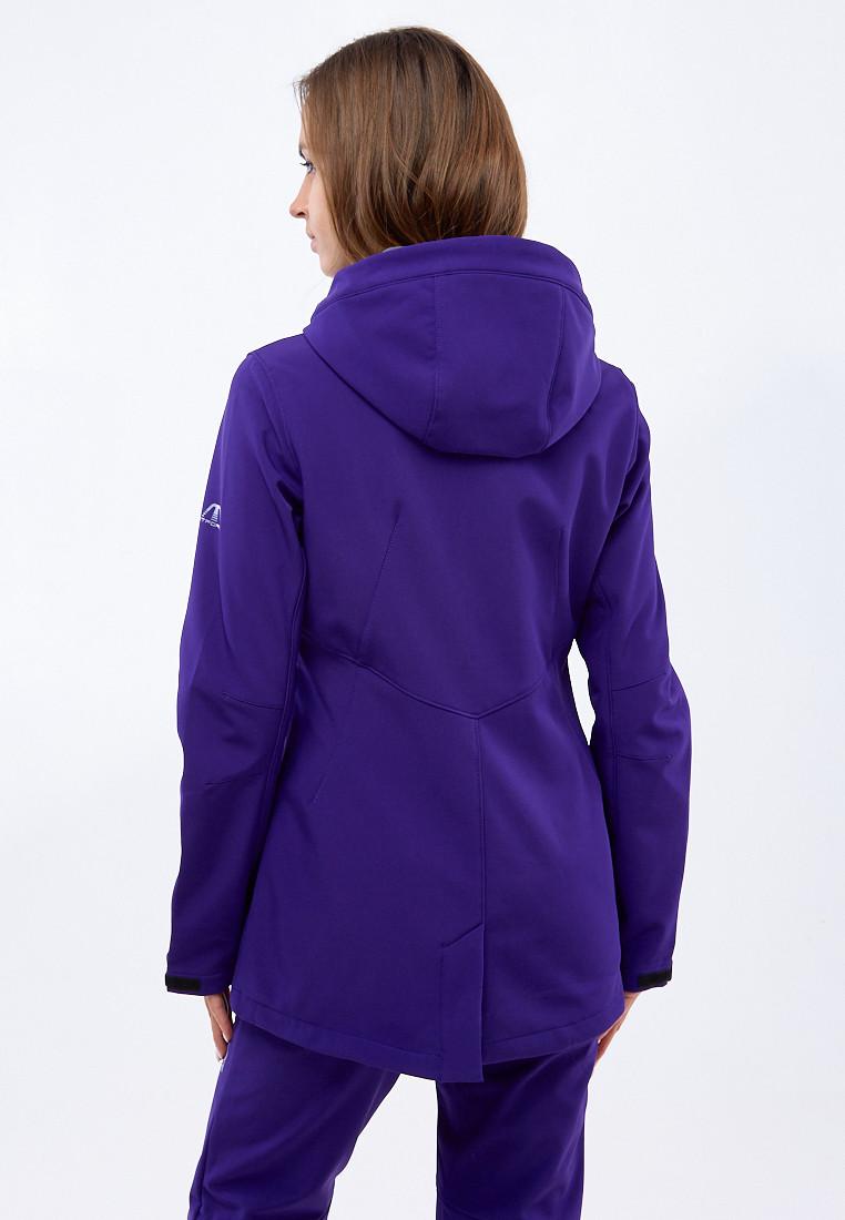 Купить оптом Костюм женский softshell темно-фиолетовго цвета 01816-1TF в Сочи