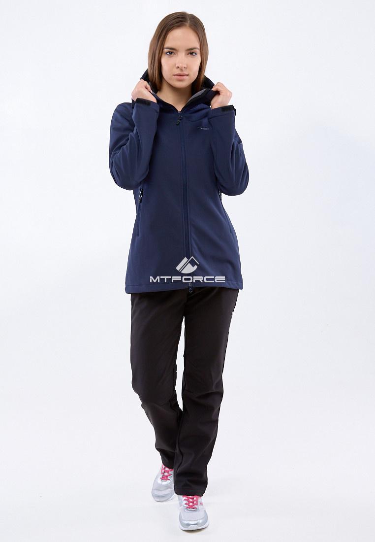 Купить оптом Костюм женский softshell темно-синего цвета 01816-1TS