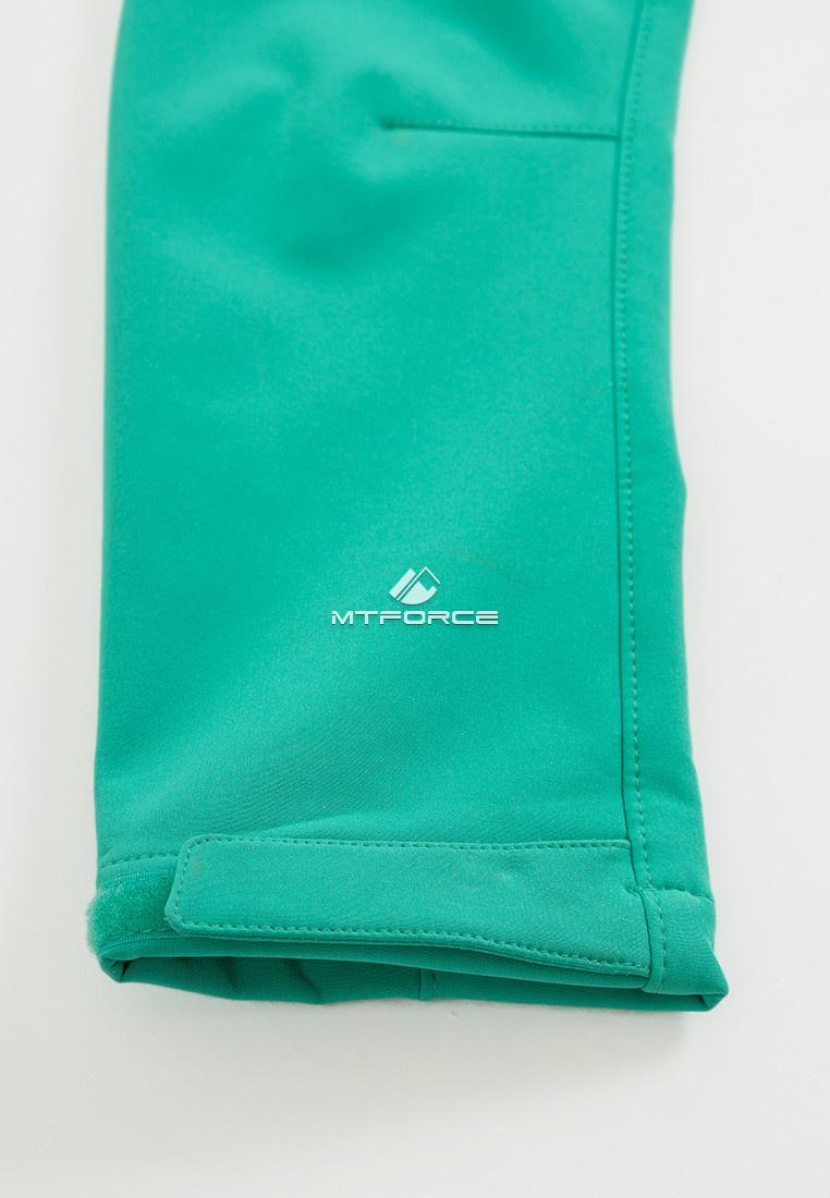 Купить оптом Ветровка softshell женская зеленого цвета 1816-1Z в Екатеринбурге