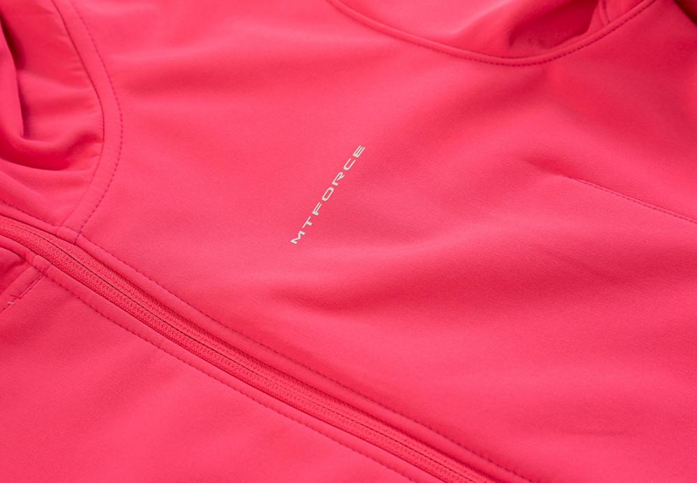 Купить оптом Ветровка softshell женская розового цвета 1816-1R в Казани