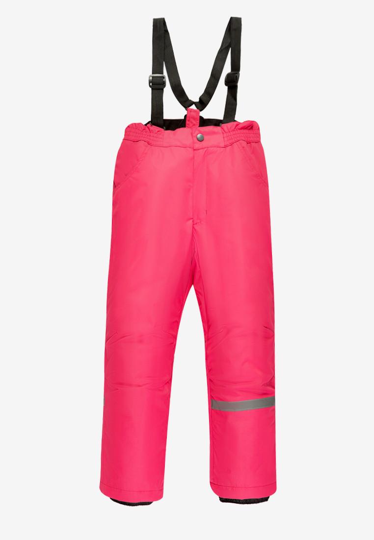 Купить оптом Брюки подростковые демисезонные для девочки розового цвета 018R в Новосибирске
