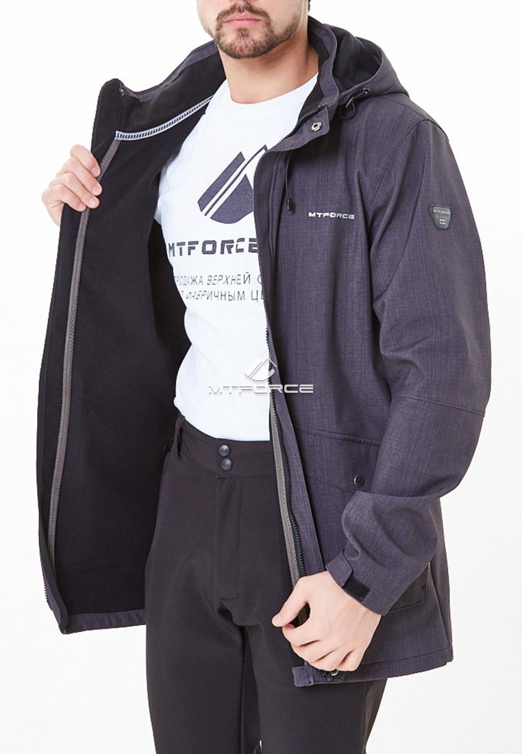 Купить оптом Костюм мужской softshell темно-серого цвета 01904TС в Казани