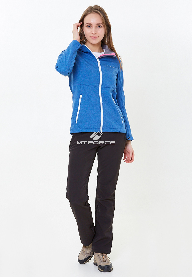 Купить оптом Костюм женский softshell синего цвета 01907S в Казани