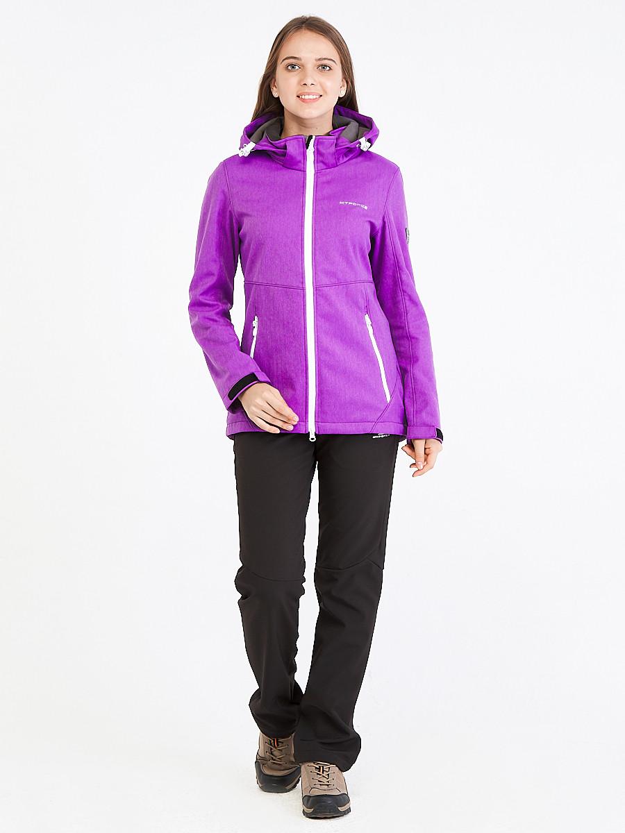 Купить оптом Костюм женский softshell фиолетового цвета 019077F в  Красноярске