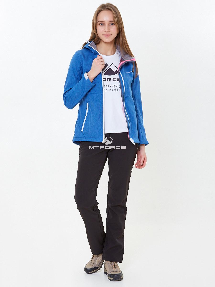 Купить оптом Костюм женский softshell синего цвета 01907S в Новосибирске