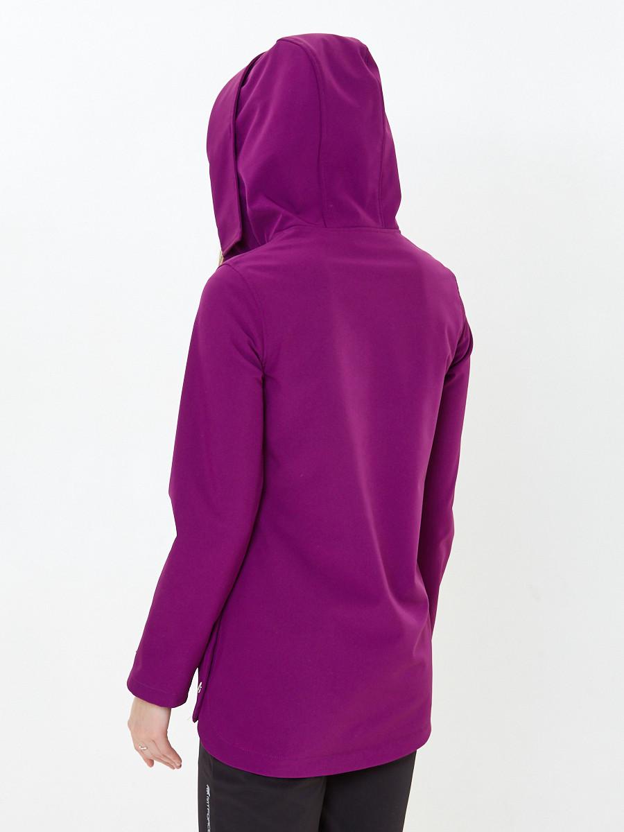 Купить оптом Костюм анорак женский softshell фиолетового цвета 01914F в Санкт-Петербурге