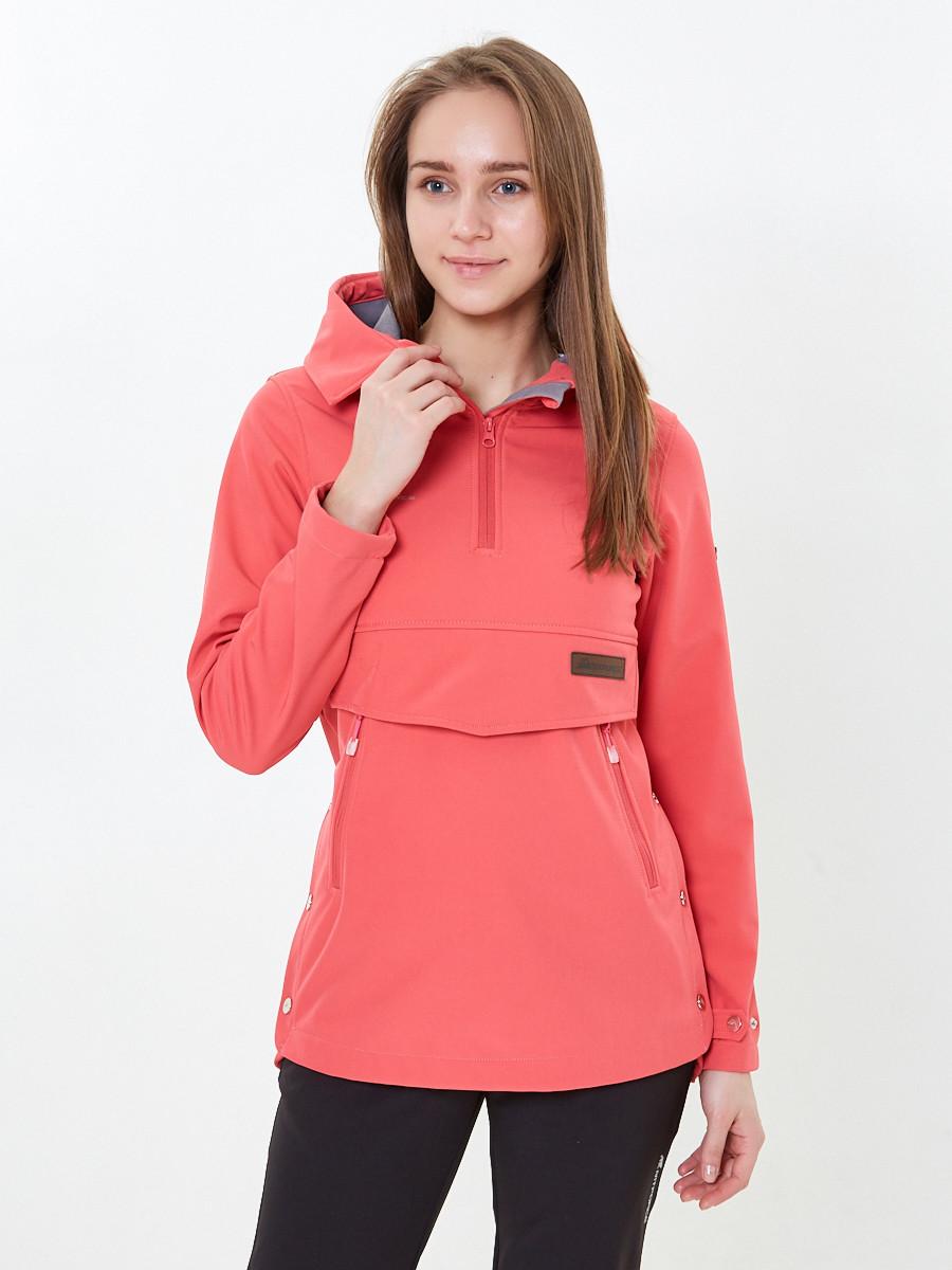 Купить оптом Костюм анорак женский softshell розового цвета 01914R в Омске