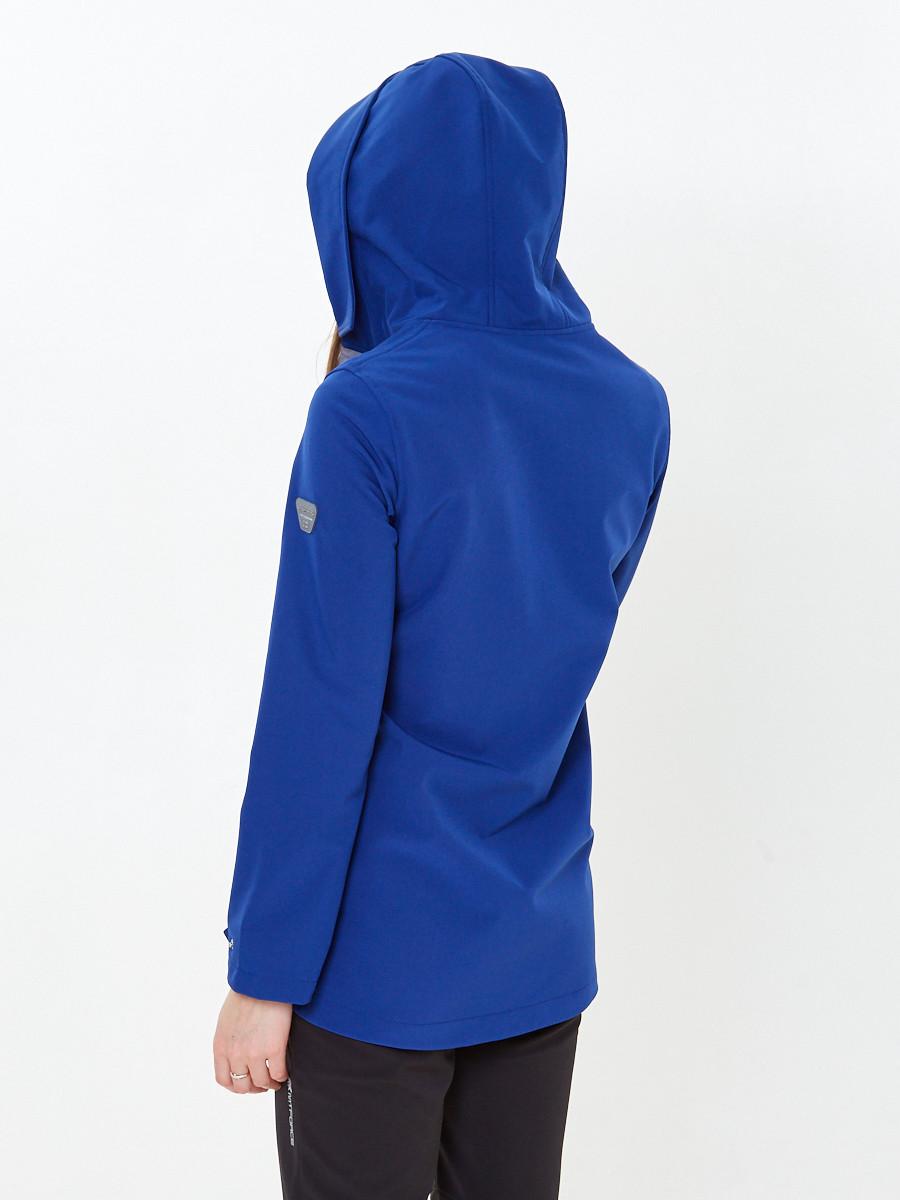 Купить оптом Костюм анорак женский softshell темно-синего цвета 01914TS в Омске