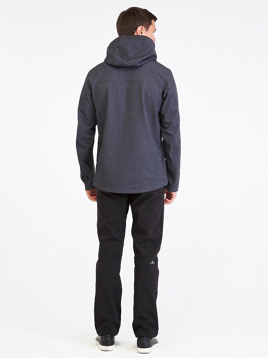 Купить оптом Костюм мужской softshell темно-серого цвета 01915TC
