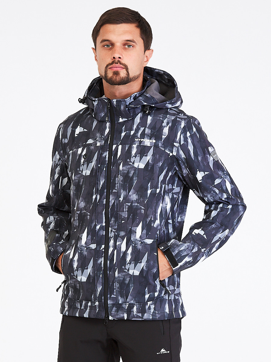 Купить оптом Костюм мужской softshell серого цвета 01915Sr