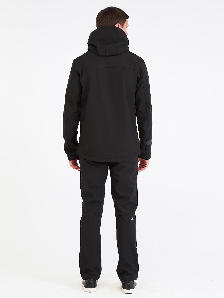 Купить оптом Костюм мужской softshell черного цвета 01915Ch в Екатеринбурге