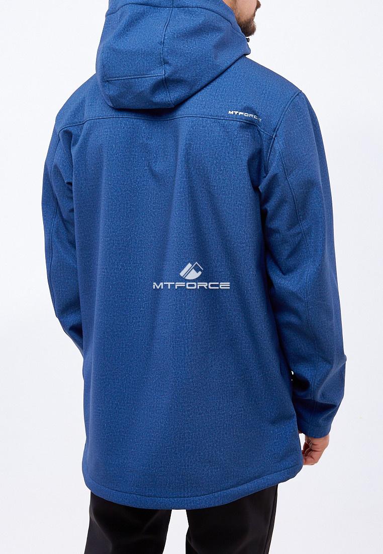 Купить оптом Костюм мужской большого размера softshell темно-синего цвета 01921TS