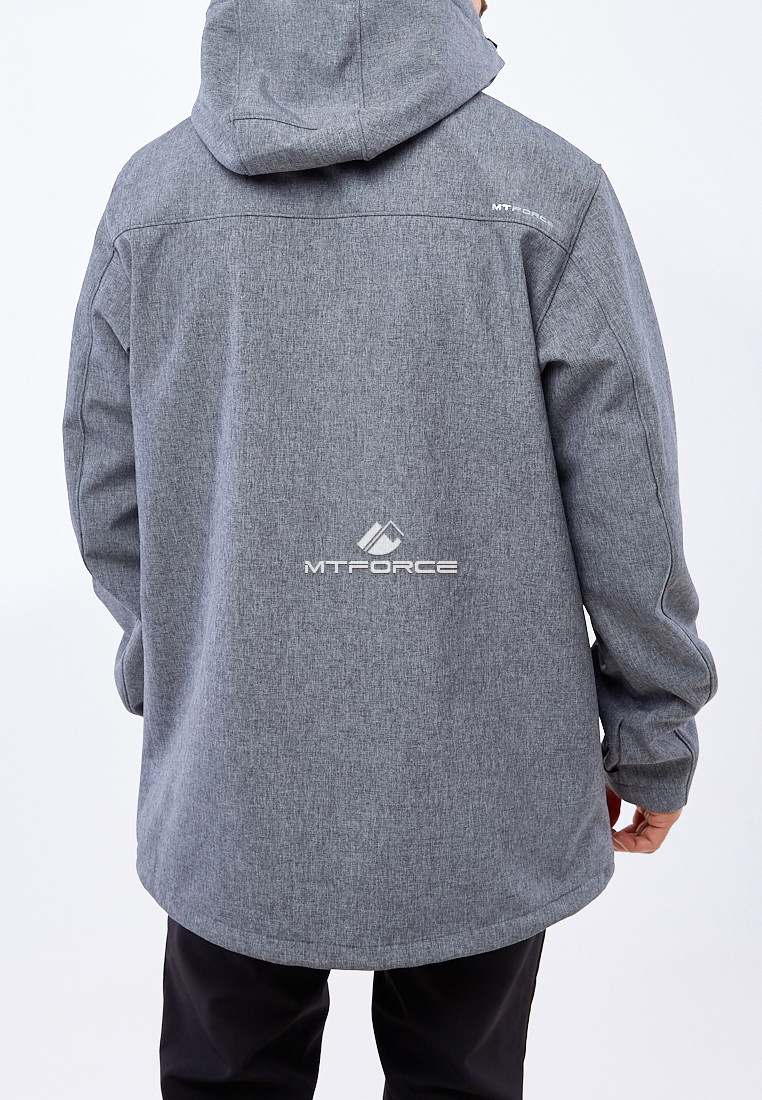 Купить оптом Костюм мужской большого размера softshell серого цвета 01921Sr