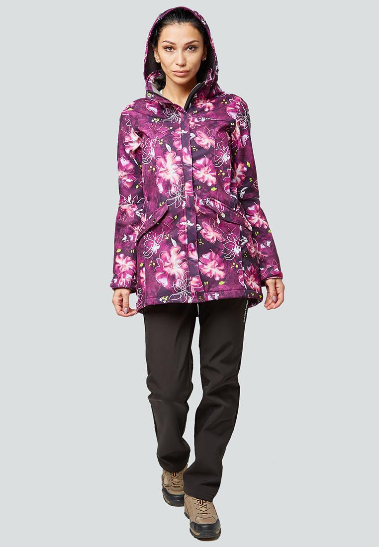 Купить оптом Костюм женский softshell фиолетовго цвета 01922-2F
