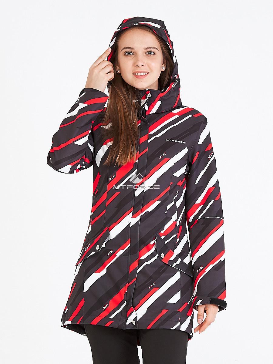 Купить оптом Костюм женский softshell красного цвета 019221Kr в Новосибирске