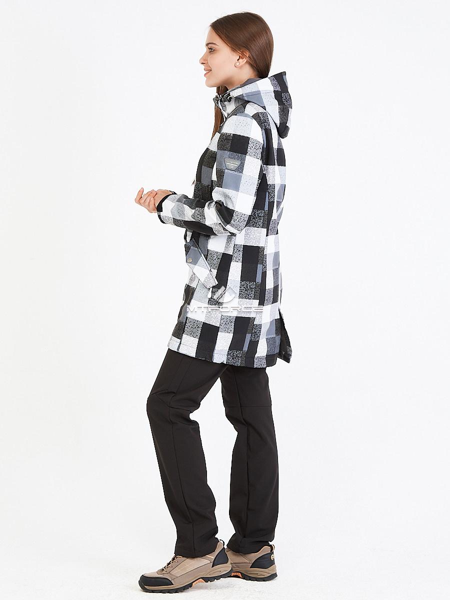 Купить оптом Костюм женский softshell серого цвета 019221Sr в Самаре