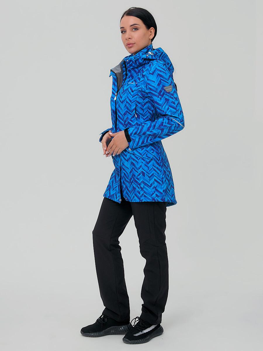 Купить оптом Костюм женский softshell синего цвета 019221S
