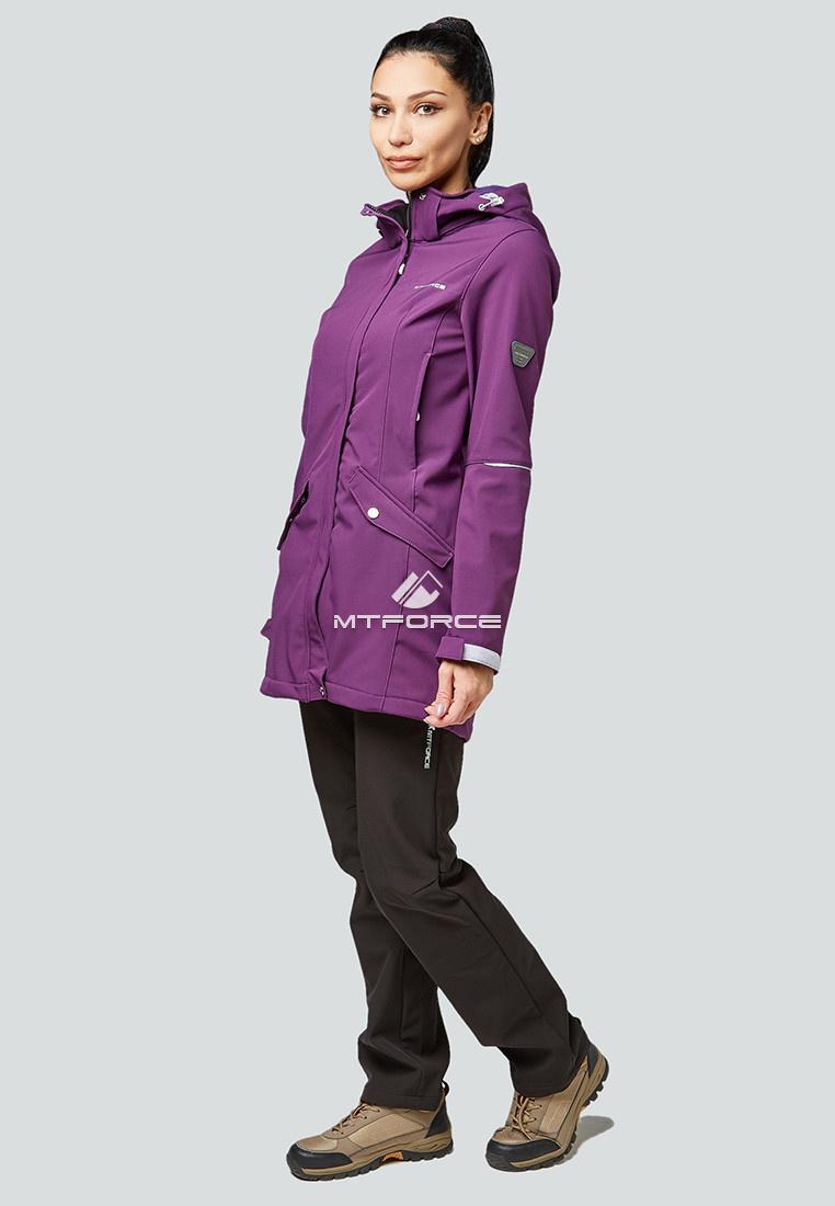 Купить оптом Костюм женский softshell фиолетовго цвета 01922F